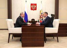 Владимир Путин и Вадим Шумков. Фото:  kremlin.ru.