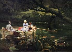 Василий Поленов. На лодке. Абрамцево. 1880