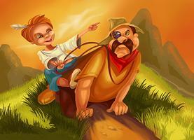 О. Генри «Вождь краснокожих» иллюстрация lenaelenovna
