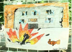Рисунок школьника из Луганска/ЛНР
