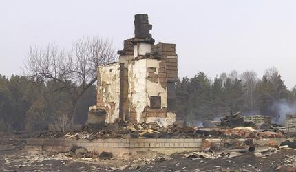 В Курганской области в майских пожарах погибла женщина и сгорели 14 жилых домов