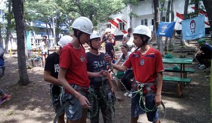 В Крыму прошли занятия по спортивно-туристическому многоборью с детьми