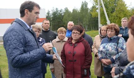 В поселке Бакшеево прошла встреча с жителями по благоустройству территории