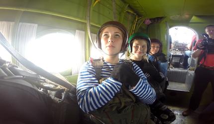 Читинские юнармейцы совершили первые прыжки с парашютом в честь Дня ВДВ