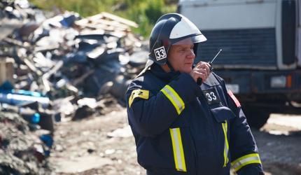 На шатурском полигоне прошли тактические противопожарные учения