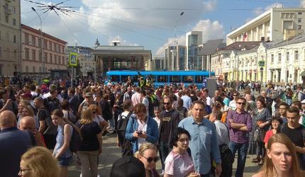 На несогласованной акции протеста насчитали 750 человек