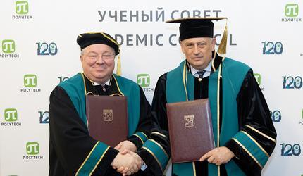 Губернатор Ленобласти Александр Дрозденко стал Почетным доктором СПбПУ