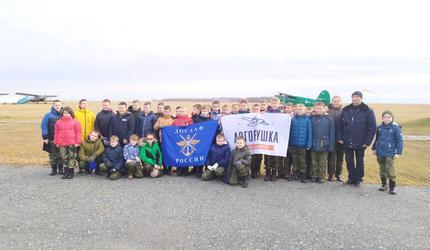 Тюменские кадеты побывали в гостях у курганских авиаторов