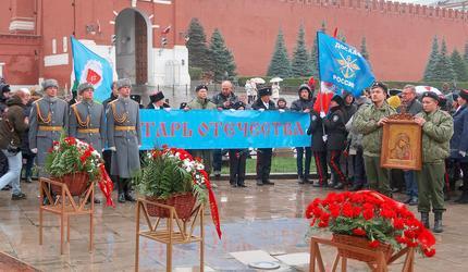 Досаафовцы и кадеты пришли на Красную площадь
