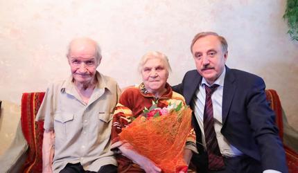 От имени президента РФ глава Люберец поздравил ветерана с 90-летием