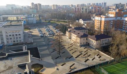 В Люберцах завершены работы по благоустройству пешеходной зоны на ул. Звуковая
