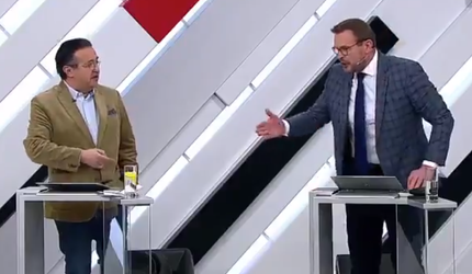 Украинский эксперт в прямом эфире отправил американца в нокаут