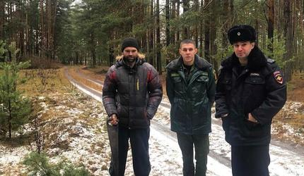 Сотрудники лесной охраны Шатурского участкового лесничества задержали нарушителя