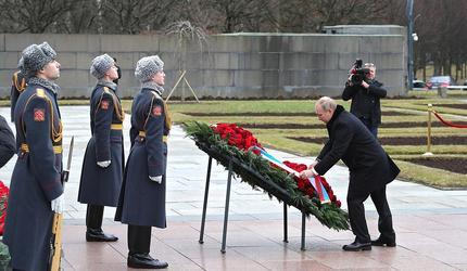 Путин посетил памятные мероприятия, посвященные прорыву блокады Ленинграда