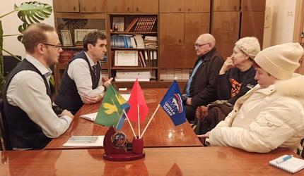 Андрей Келлер провел приём граждан в посёлке Радовицкий