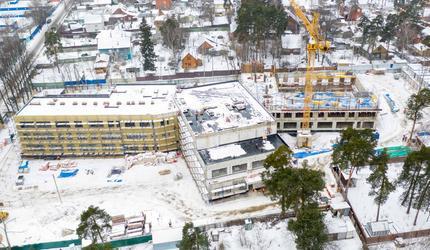 Глава Люберец проверил сегодня ход строительства школы на 275 мест в Малаховке