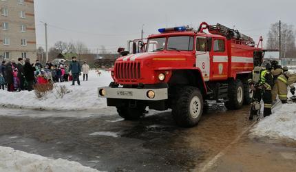 В Шатуре прошли пожарно-тактические учения