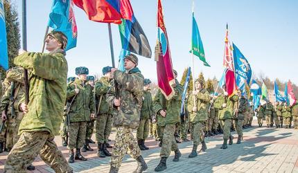 Марш-бросок посвятили памяти героев-десантников