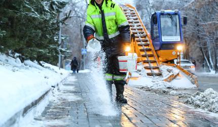 Более 1 тыс. дворников устраняют последствия снегопада в подмосковных Люберцах