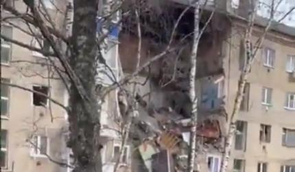 В Орехово-Зуево в результате взрыва обрушился подъезд жилого дома