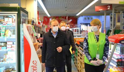 Глава подмосковных Люберец проверил работу продуктовых магазинов