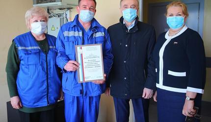 Врачи скорой помощи из Люберец получили благодарность Госдумы РФ