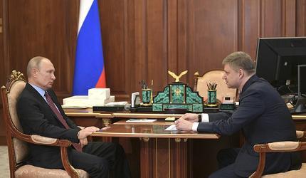 Путин встретился с главой РЖД Олегом Белозёровым