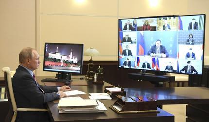 Путин провел в режиме видеоконференции совещание о состоянии рынка труда