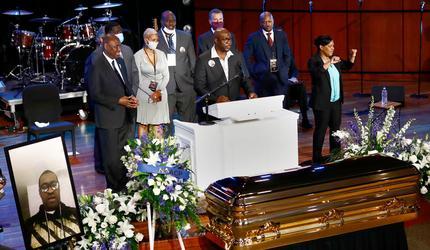 В Миннеаполисе прошла первая из трех церемоний прощания с Джорджем Флойдом