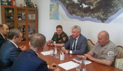 Рабочая поездка председателя ДОСААФ России Александра Колмакова по Крыму