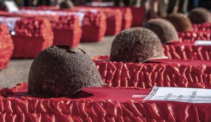 В Севастополе перезахоронили останки 353 защитников города