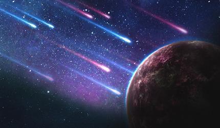 В Самаре сняли падение метеорита