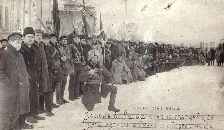 Партизаны, выбившие белых из Евпатории в ноябре 1920 г.