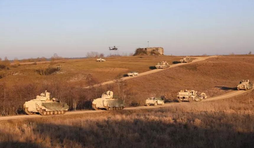 Фото: U.S. Army National Guard/Военнослужащие США в Графенворе, Германия